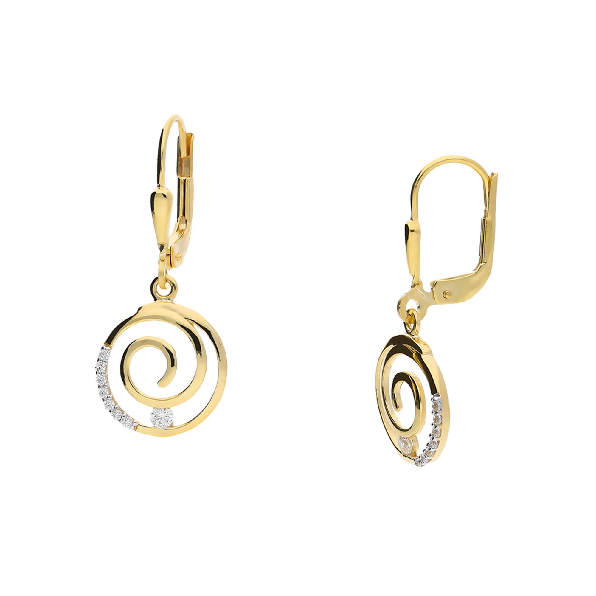 juwelier kraemer ohrringe zirkonia 333 gold juwelier. Black Bedroom Furniture Sets. Home Design Ideas