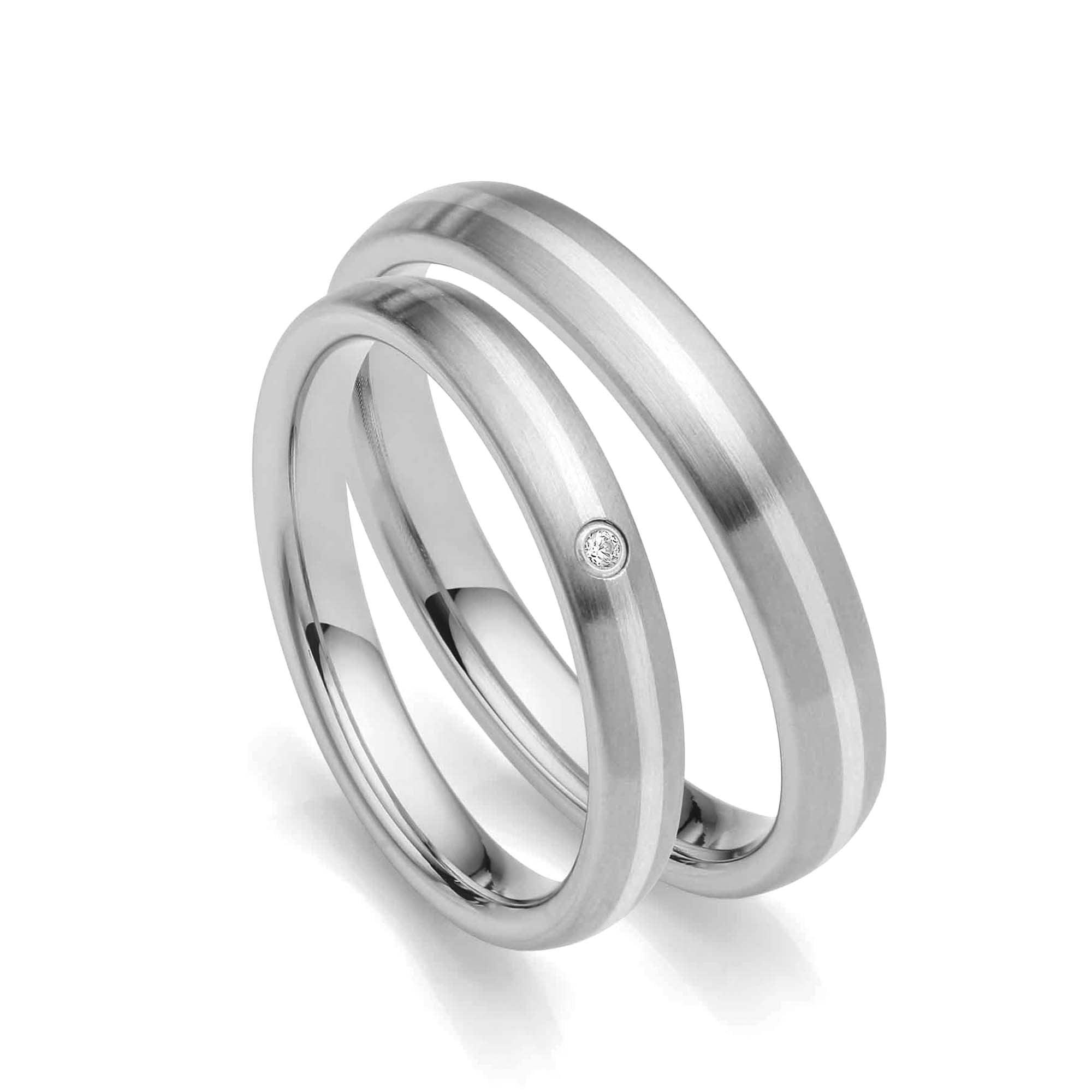 Juwelier Kraemer Freundschaftsringe Edelstahl 925 Silber 60 Mm