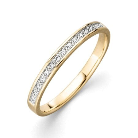 Juwelier Kraemer Ring Diamant 375/ - Gold – zus. ca. 0,05 ct – 56 mm