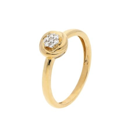 Juwelier Kraemer Ring Diamant 333/ - Gold – zus. ca. 0,07 ct – 52 mm