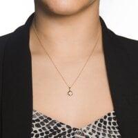 Brillanten Anhänger mit Halskette 333/ - Gelbgold