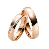 Juwelier Kraemer Trauring Diamant 585/ - Gold – zus. ca. 0,06 ct – 50 mm