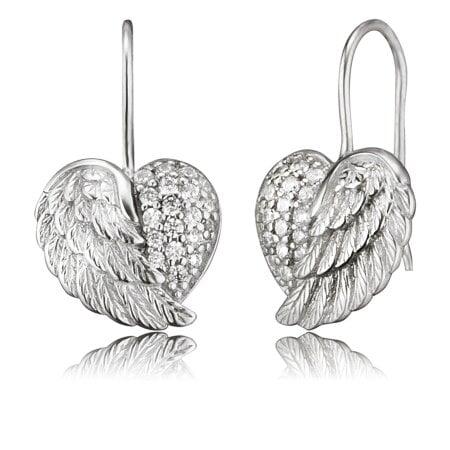 Engelsrufer Ohrringe Zirkonia You take my Heart – ERE-HEARTWING-ZI