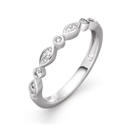 Juwelier Kraemer Ring Diamant 333/ - Gold – zus. ca. 0,10 ct – 50 mm