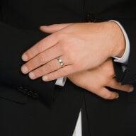 Juwelier Kraemer Trauring Diamant 600/ - Platin – zus. ca. 0,05 ct – 52 mm