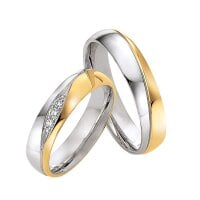 Juwelier Kraemer Trauring Diamant 585/ - Gold – zus. ca. 0,07 ct – 50 mm