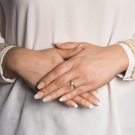 Juwelier Kraemer Ring Diamant 333/ - Gold – zus. ca. 0,07 ct – 54 mm