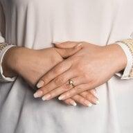 Juwelier Kraemer Ring Diamant 333/ - Gold – zus. ca. 0,07 ct – 56 mm