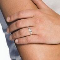 Juwelier Kraemer Freundschaftsring 925/ - Silber – 58 mm