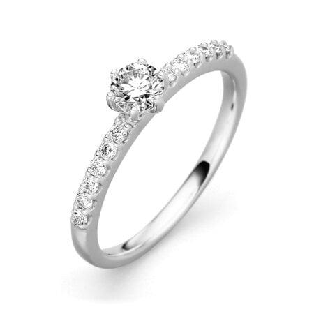 Juwelier Kraemer Ring Diamant 585/ - Gold – zus. ca. 0,50 ct – 54 mm