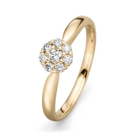 Juwelier Kraemer Ring Diamant 585/ - Gold – zus. ca. 0,20 ct – 56 mm