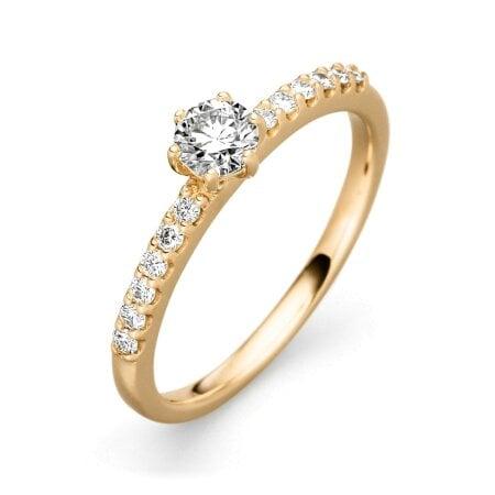Juwelier Kraemer Ring Diamant 585/ - Gold – zus. ca. 0,50 ct – 56 mm