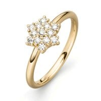 Juwelier Kraemer Ring Diamant 585/ - Gold – zus. ca. 0,30 ct – 54 mm