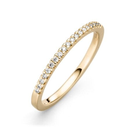 Juwelier Kraemer Ring Diamant 585/ - Gold – zus. ca. 0,12 ct – 54 mm