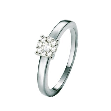 Juwelier Kraemer Ring Diamant 585/ - Gold – zus. ca. 0,23 ct – 54 mm