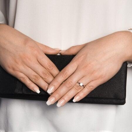 Juwelier Kraemer Ring Diamant 585/ - Gold – zus. ca. 0,23 ct – 56 mm
