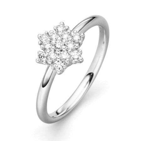 Juwelier Kraemer Ring Diamant 585/ - Gold – zus. ca. 0,30 ct – 54 mm