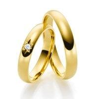 Juwelier Kraemer Trauring Diamant 750/ - Gold – ca. 0,03 ct – 54 mm