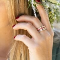 Sif Jakobs Ring Zirkonia Ellera – SJ-R2869-BLN(YG)