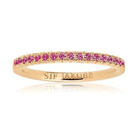 Sif Jakobs Ring Zirkonia Ellera – SJ-R2869-RED(YG)/52 – 52 mm