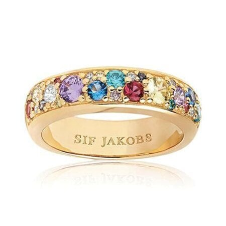 Sif Jakobs Ring Zirkonia Novara – SJ-R1062-XCZ(YG)/52 – 52 mm
