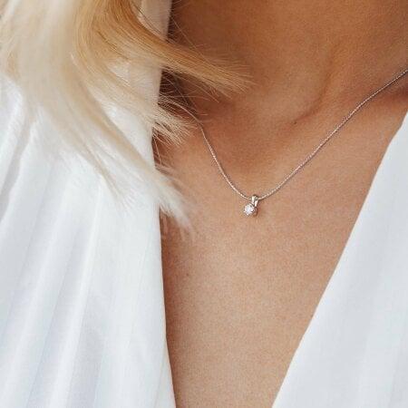 Juwelier Kraemer Kette Diamant 585/ - Gold – ca. 0,15 ct