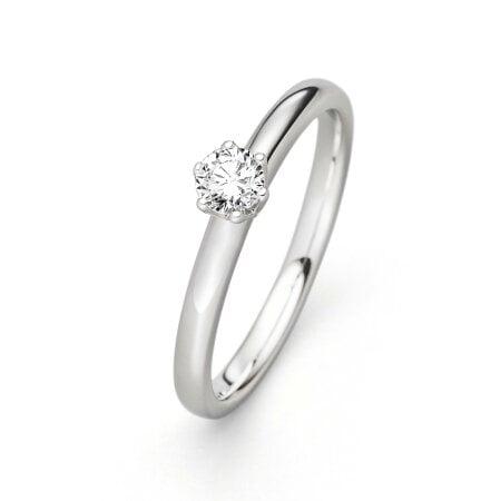 Juwelier Kraemer Ring Diamant 585/ - Gold – ca. 0,20 ct – 52 mm