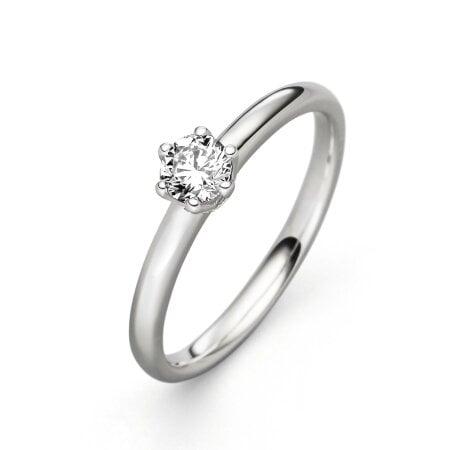 Juwelier Kraemer Ring Diamant 585/ - Gold – ca. 0,30 ct – 52 mm