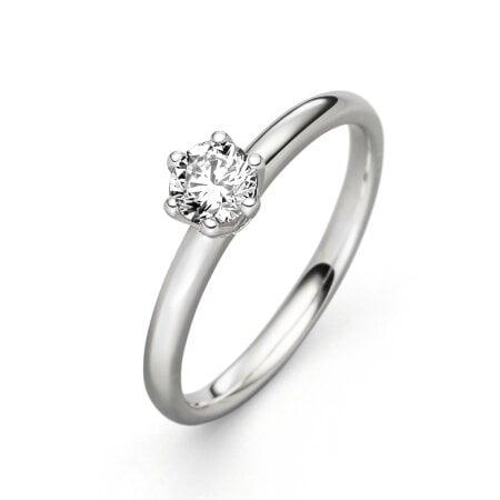 Juwelier Kraemer Ring Diamant 585/ - Gold – ca. 0,40 ct – 54 mm