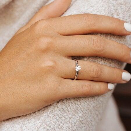 Juwelier Kraemer Ring Diamant 585/ - Gold – 0,40 ct – 56 mm