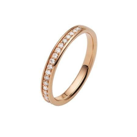 Juwelier Kraemer Trauring Diamant 585/ - Gold – zus. ca. 0,20 ct – 52 mm