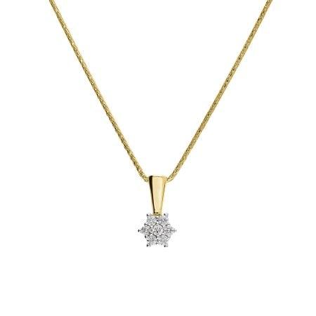 Juwelier Kraemer Kette Diamant 333/ - Gold – zus. ca. 0,10 ct