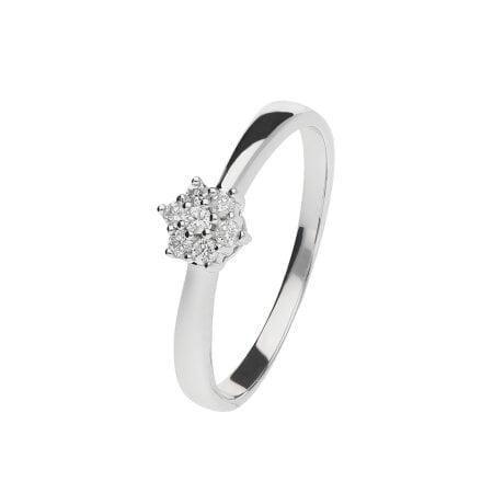 Juwelier Kraemer Ring Diamant 333/ - Gold – zus. ca. 0,10 ct – 50 mm