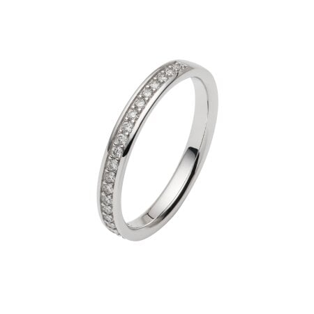 Juwelier Kraemer Trauring Diamant 585/ - Gold – zus. ca. 0,20 ct – 56 mm