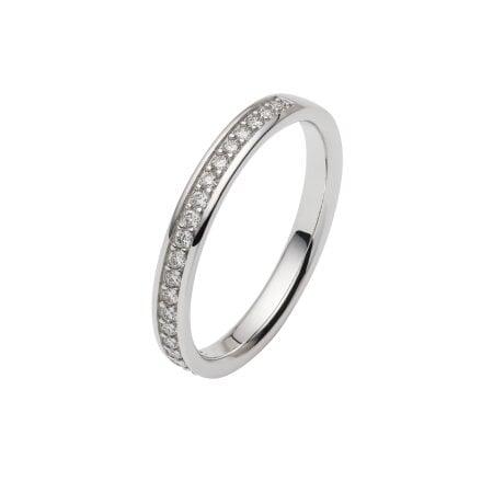 Juwelier Kraemer Trauring Diamant 585/ - Gold – zus. ca. 0,20 ct – 58 mm