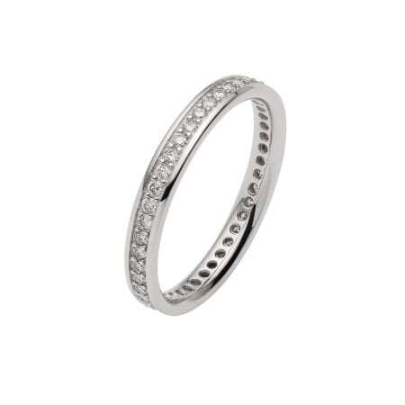 Juwelier Kraemer Trauring Diamant 585/ - Gold – zus. ca. 0,45 ct – 53 mm