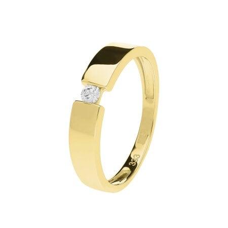 Juwelier Kraemer Ring Diamant 333/ - Gold – ca. 0,07 ct – 56 mm