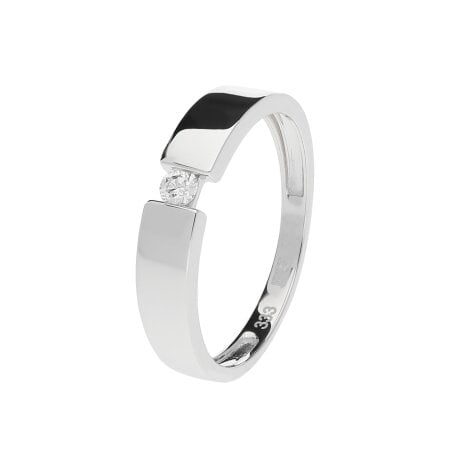 Juwelier Kraemer Ring Diamant 333/ - Gold – ca. 0,07 ct – 58 mm