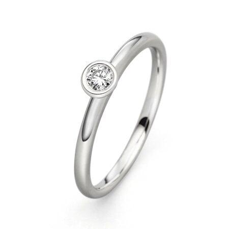 Juwelier Kraemer Ring Diamant 585/ - Gold – 0,10 ct – 52 mm