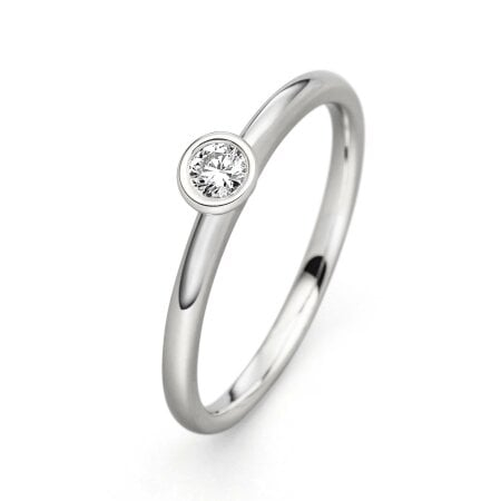 Juwelier Kraemer Ring Diamant 585/ - Gold – 0,10 ct – 56 mm