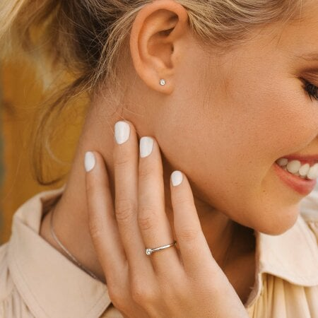 Juwelier Kraemer Ring Diamant 585/ - Gold – 0,10 ct – 56 mm