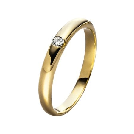 Juwelier Kraemer Ring Diamant 333/ - Gold – ca. 0,05 ct – 52 mm