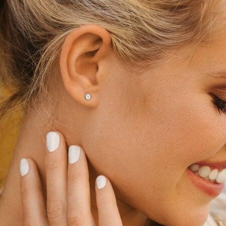 Juwelier Kraemer Ohrringe Diamant 585/ - Gold – zus. 0,20 ct