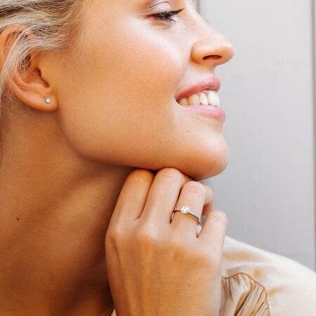 Juwelier Kraemer Ring Diamant 585/ - Gold – ca. 0,30 ct – 54 mm
