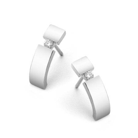 Juwelier Kraemer Ohrringe Diamant 333/ - Gold – zus. ca. 0,07 ct