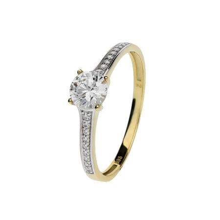 Juwelier Kraemer Ring Zirkonia 333/ - Gold – 56 mm
