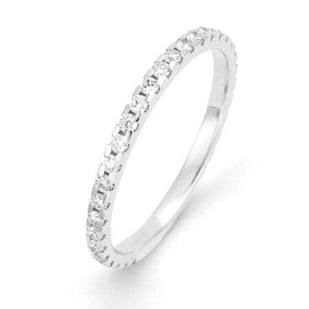 Juwelier Kraemer Trauring Diamant 585/ - Gold – zus. ca. 0,50 ct – 58 mm