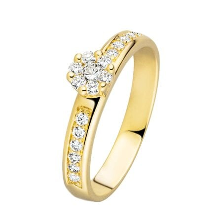 Juwelier Kraemer Ring Diamant 585/ - Gold – zus. ca. 0,30 ct – 50 mm