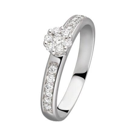 Diamantring Dahlia 585/ - Weißgold | 54 mm