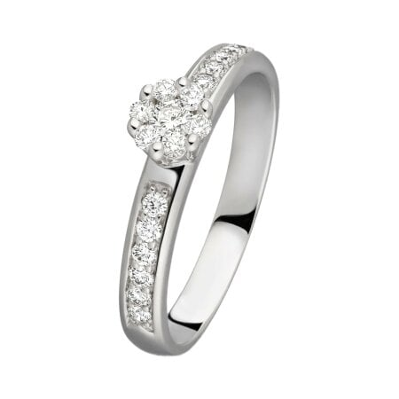 Juwelier Kraemer Ring Diamant 585/ - Gold – zus. ca. 0,30 ct – 58 mm